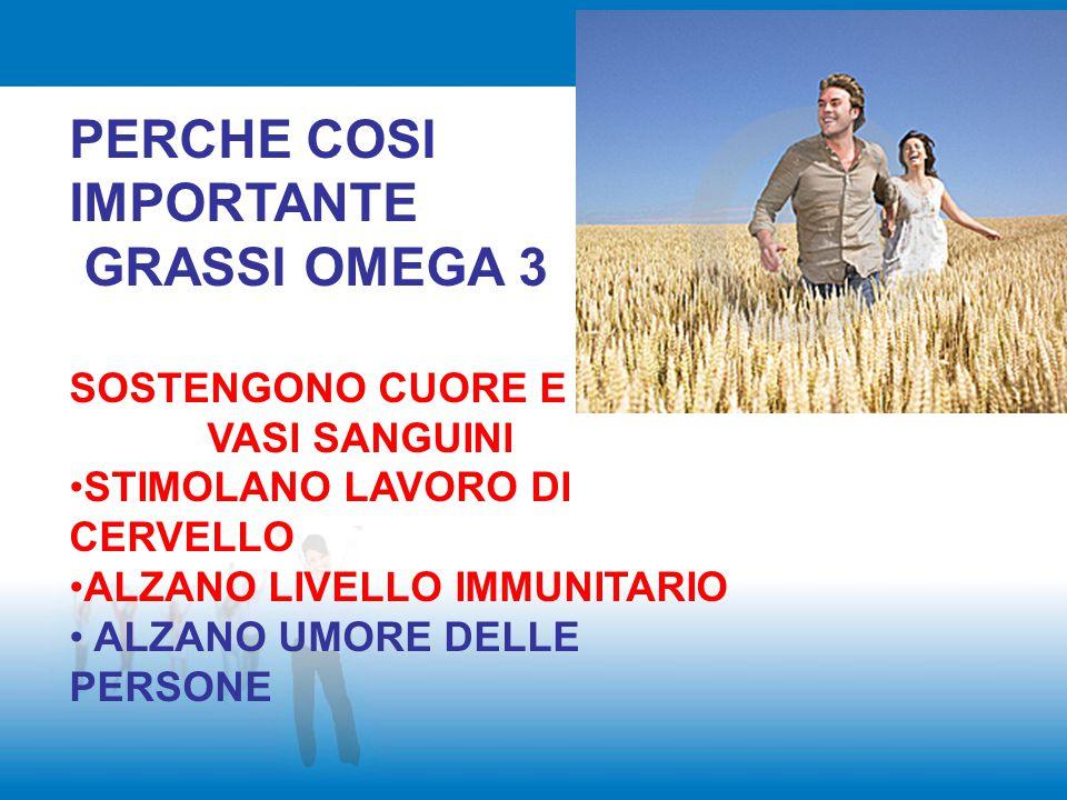 PERCHE COSI IMPORTANTE GRASSI OMEGA 3