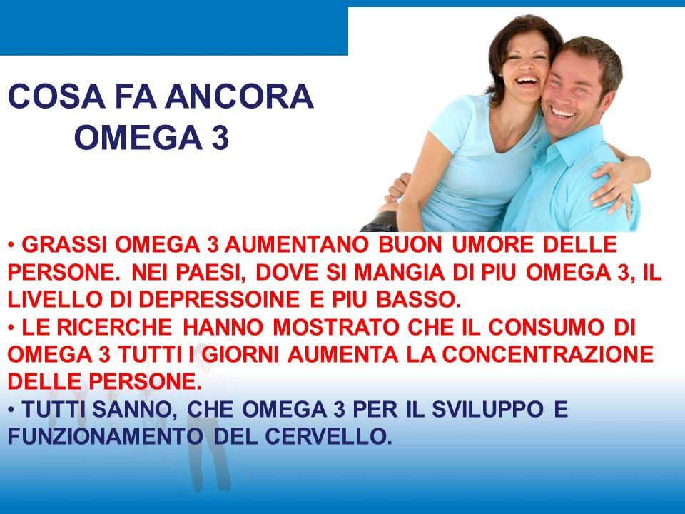 COSA FA ANCORA OMEGA 3.