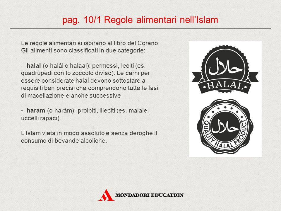 pag. 10/1 Regole alimentari nell'Islam