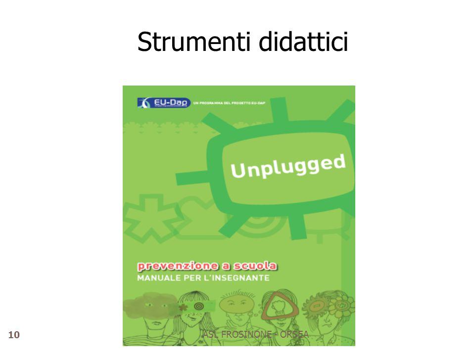 Strumenti didattici ASL FROSINONE - ORSEA
