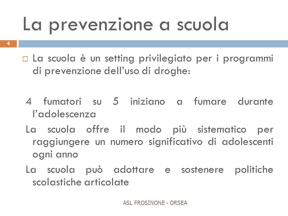 La prevenzione a scuola