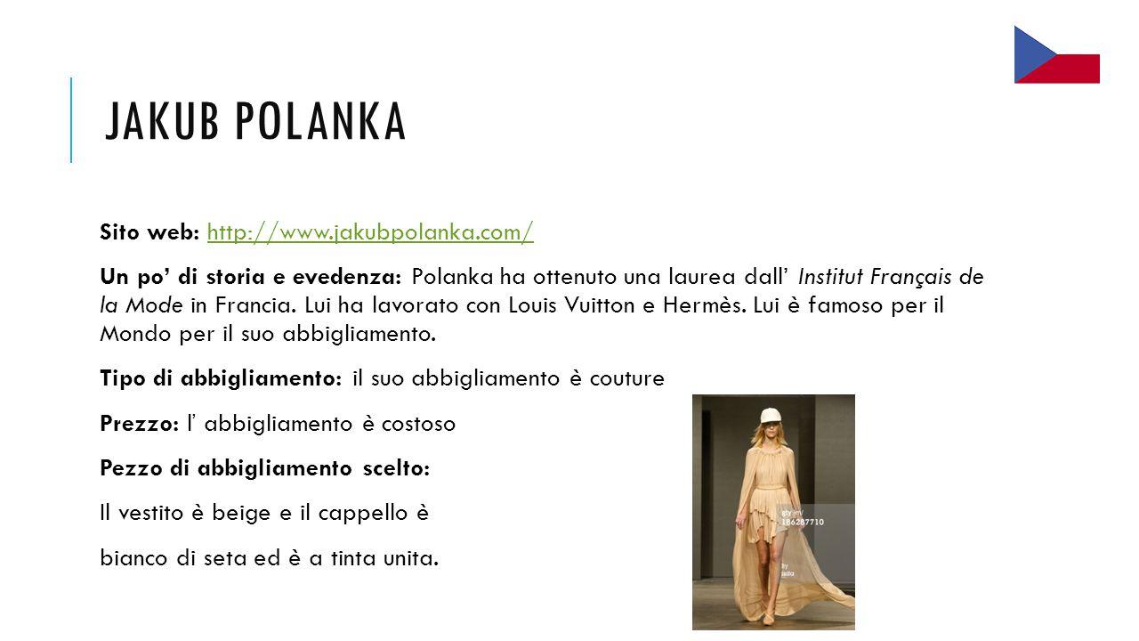 Jakub Polanka Sito web: http://www.jakubpolanka.com/