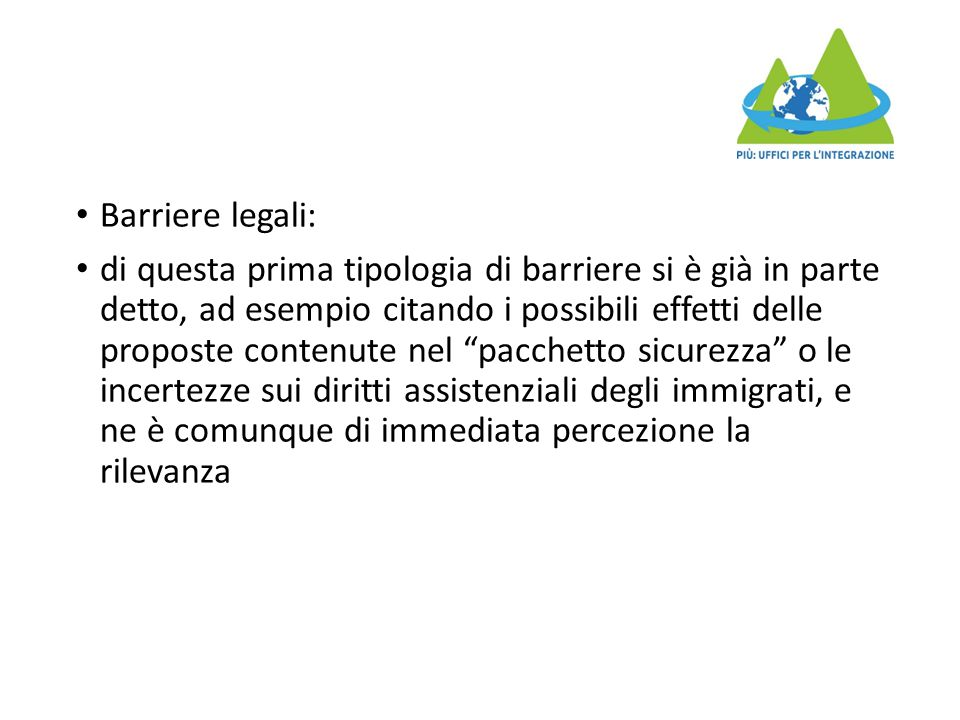 Barriere legali: