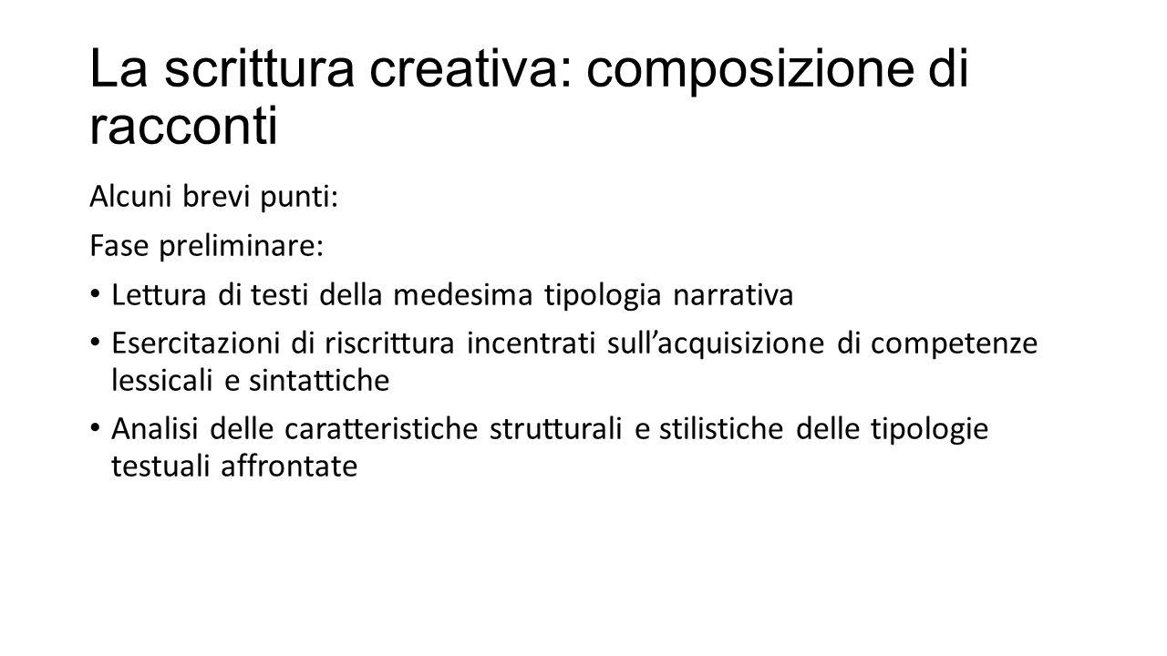 La scrittura creativa: composizione di racconti
