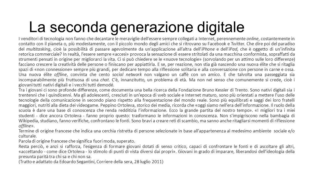 La seconda generazione digitale