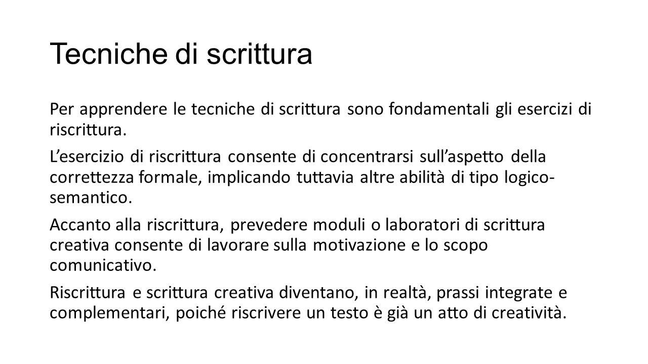 Favoloso Didattica del testo: tecniche di scrittura - ppt scaricare AZ36