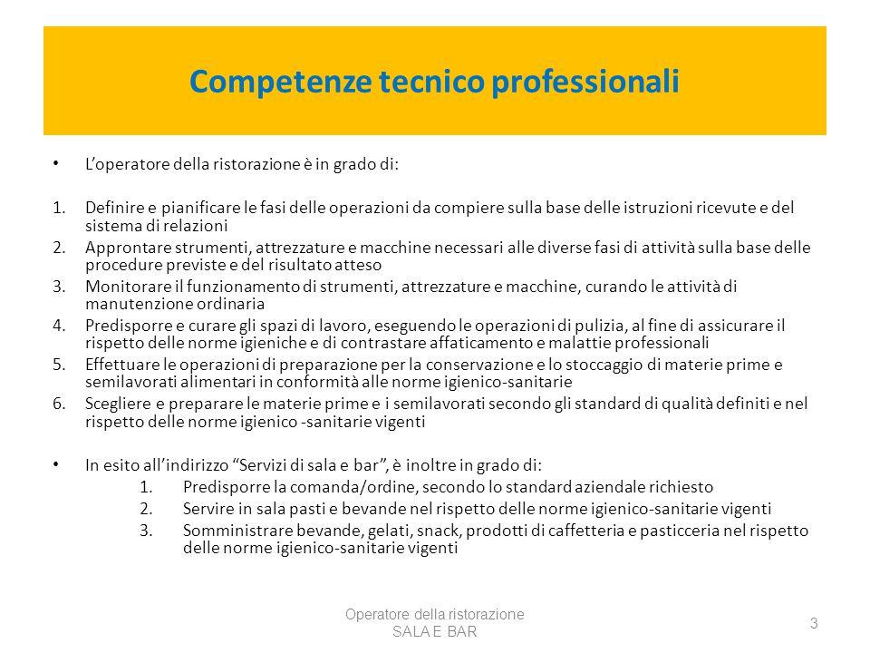 Competenze tecnico professionali