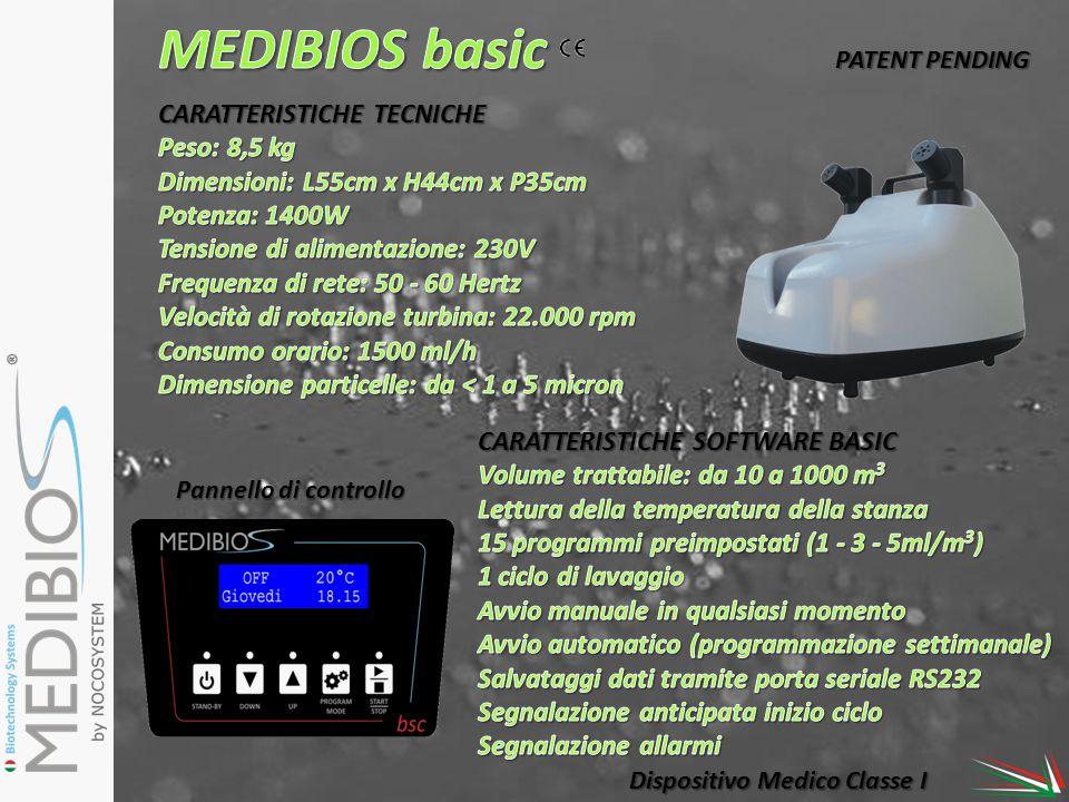 MEDIBIOS basic CARATTERISTICHE TECNICHE Peso: 8,5 kg