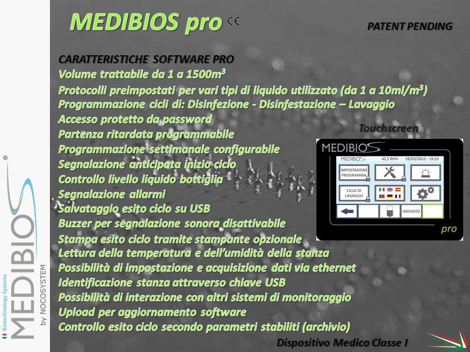 MEDIBIOS pro CARATTERISTICHE SOFTWARE PRO