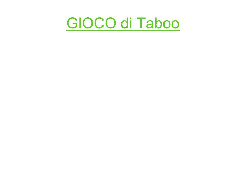 GIOCO di Taboo