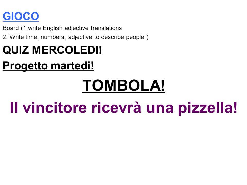 Il vincitore ricevrà una pizzella!