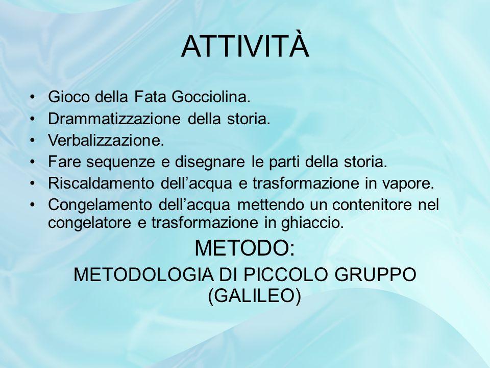 METODOLOGIA DI PICCOLO GRUPPO (GALILEO)