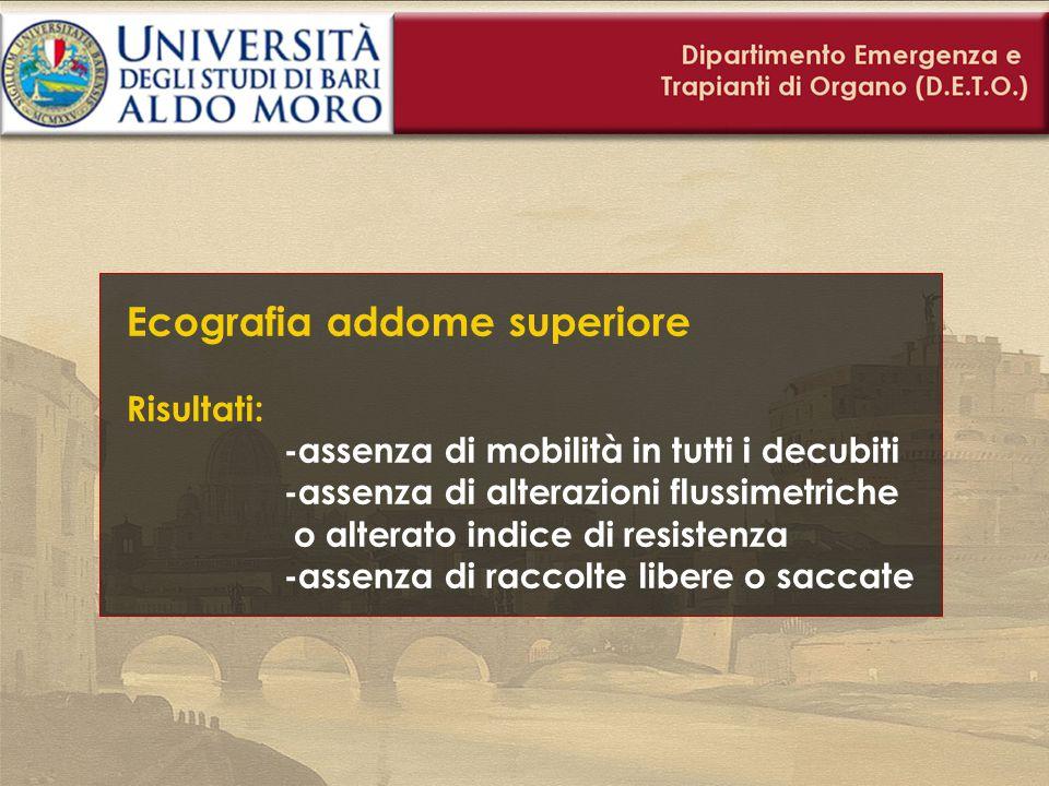 Ecografia addome superiore