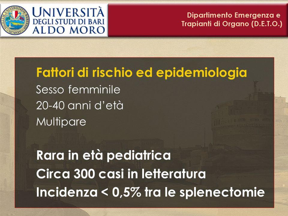 Fattori di rischio ed epidemiologia