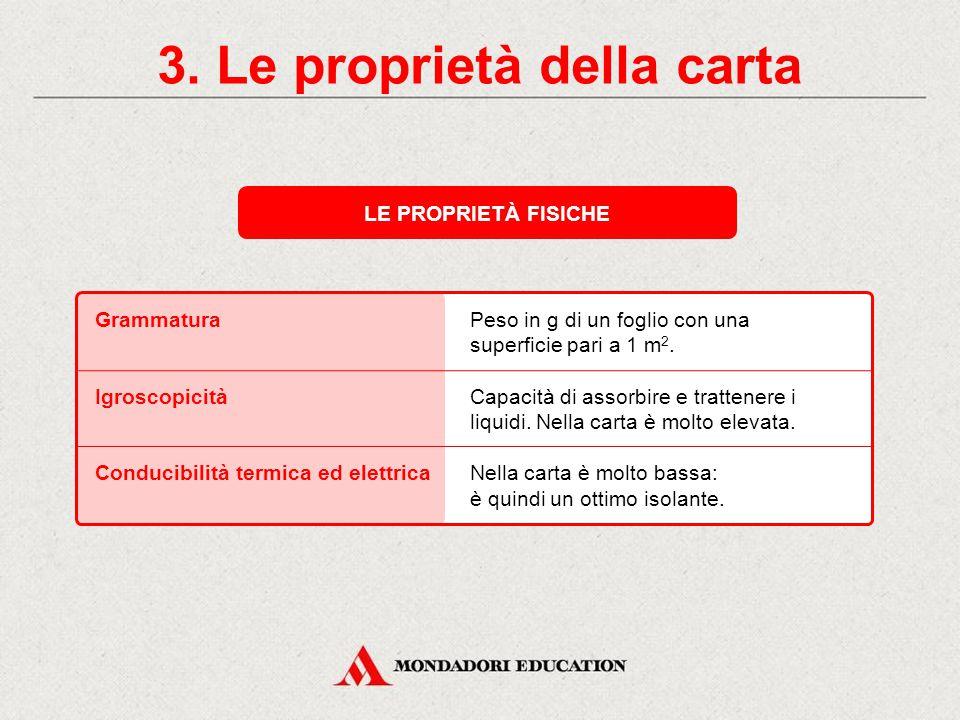 3. Le proprietà della carta