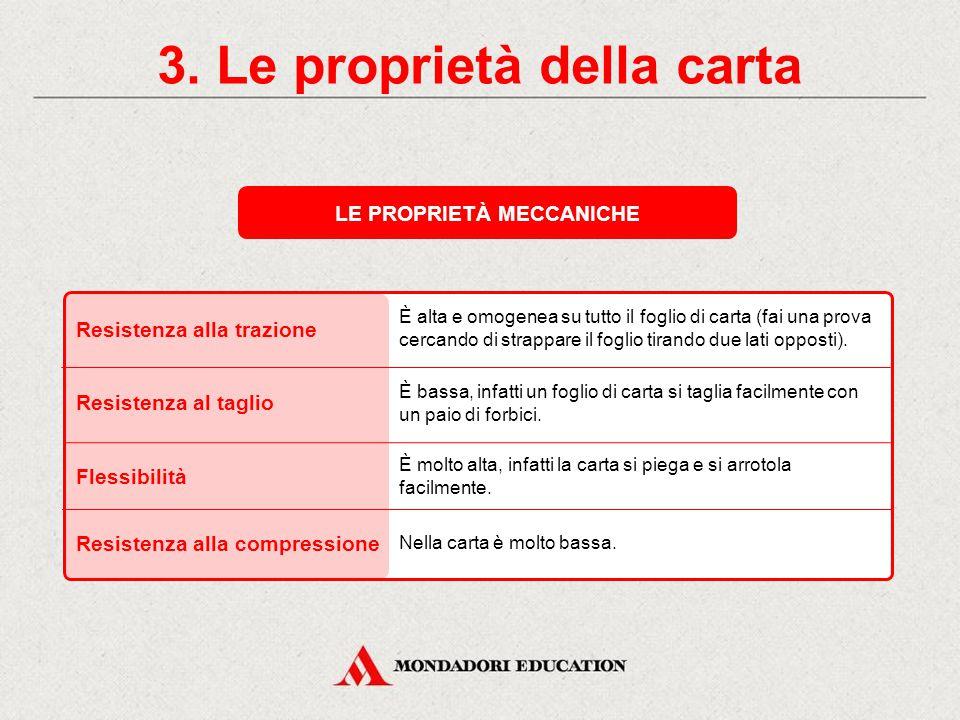 3. Le proprietà della carta LE PROPRIETÀ MECCANICHE