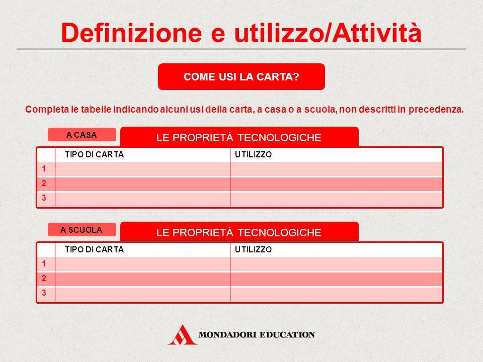 Definizione e utilizzo/Attività