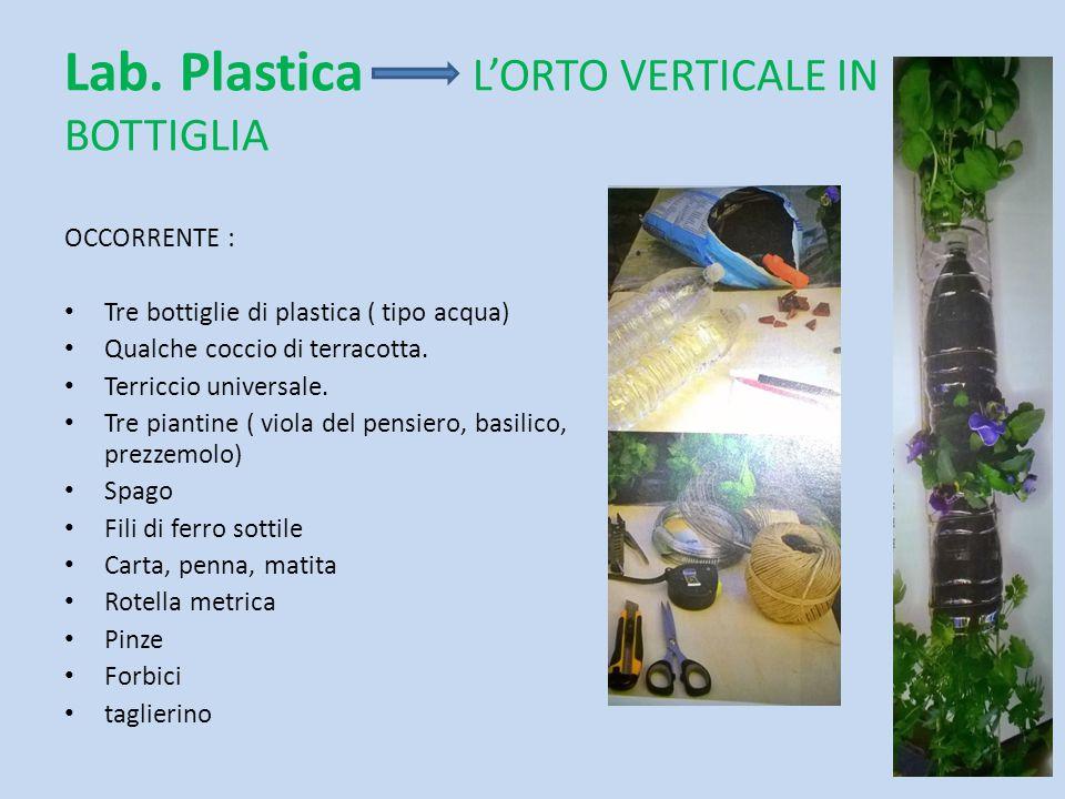 Lab. Plastica L'ORTO VERTICALE IN BOTTIGLIA