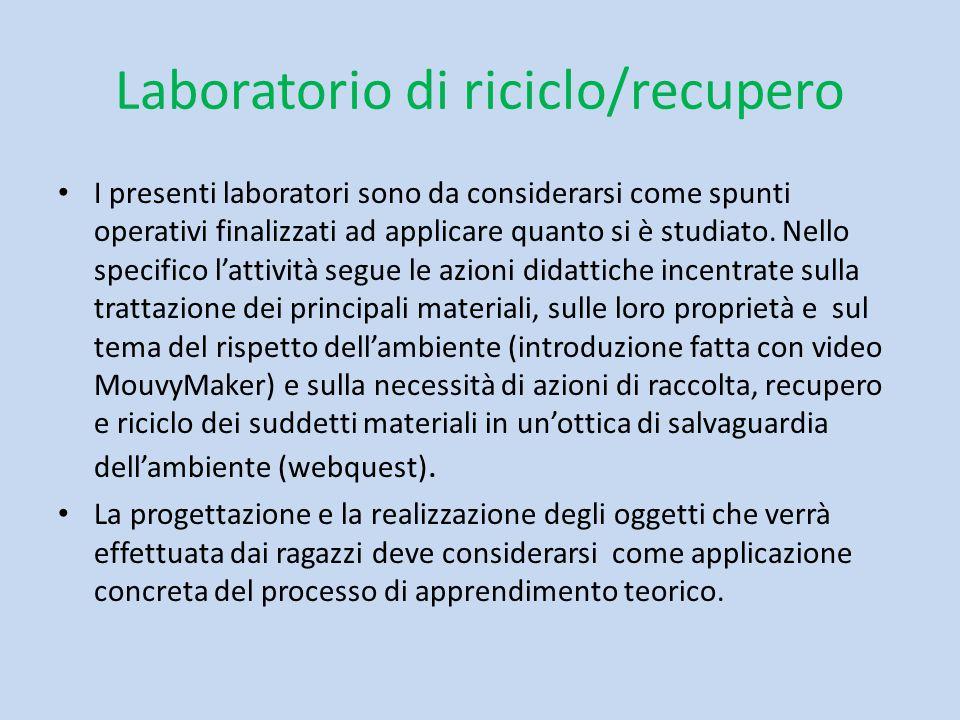 Laboratorio di riciclo/recupero