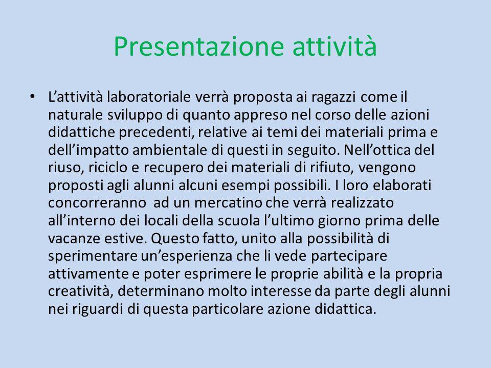 Presentazione attività