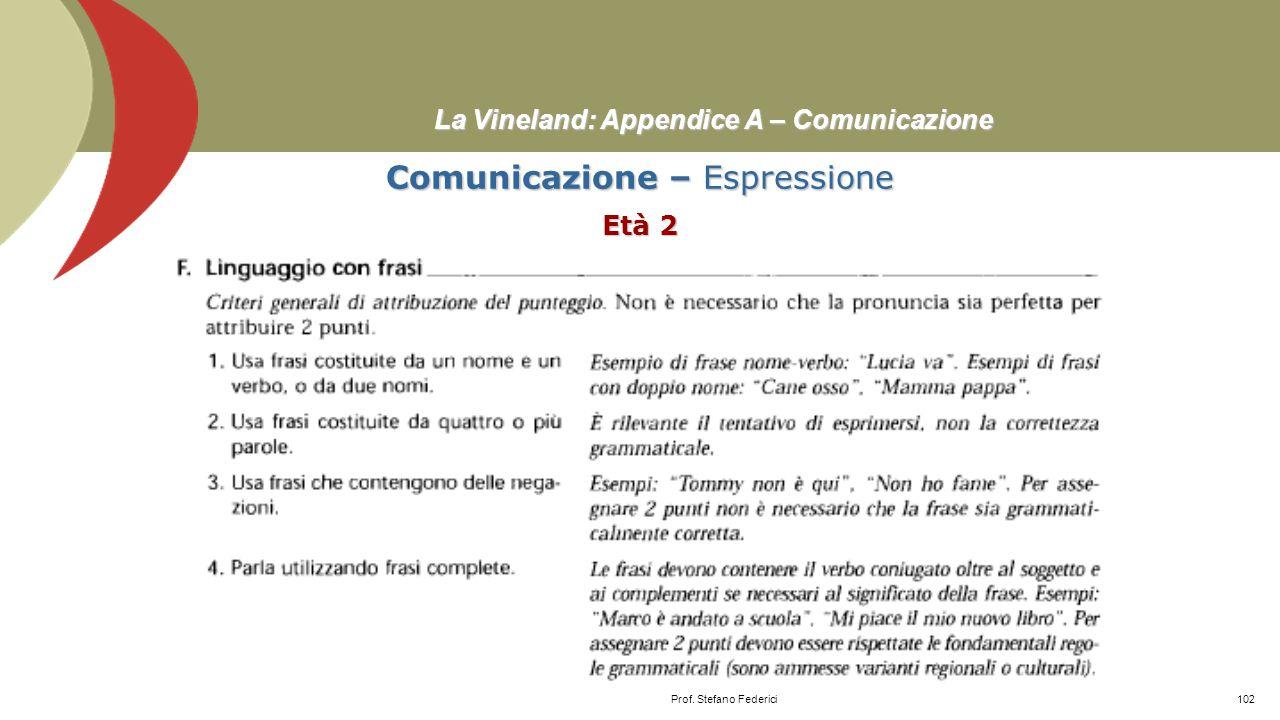 La Vineland: Appendice A – Comunicazione