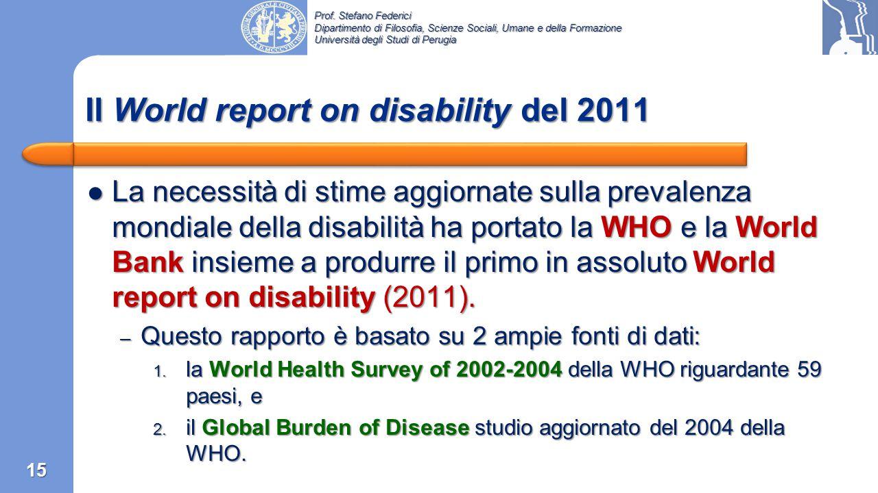 Il World report on disability del 2011
