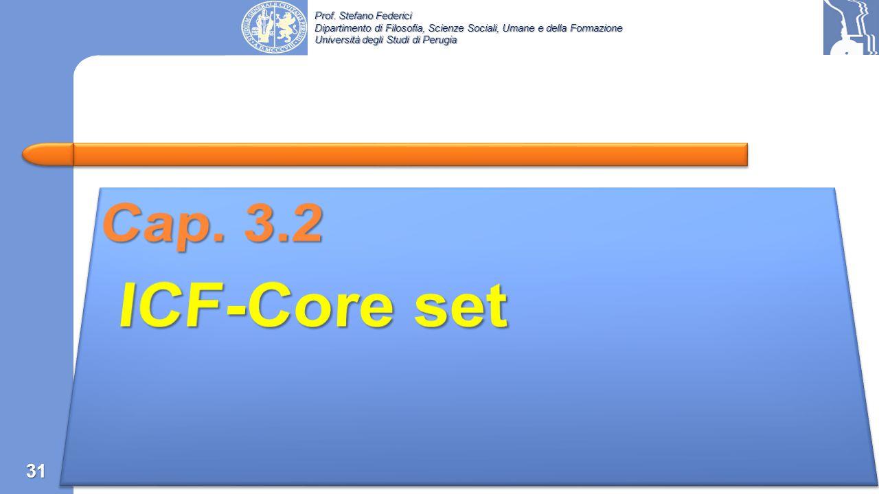 Cap. 3.2 ICF-Core set
