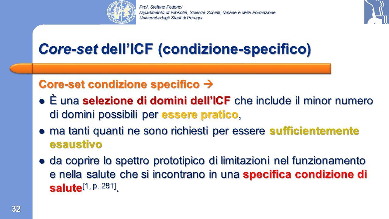 Core-set dell'ICF (condizione-specifico)