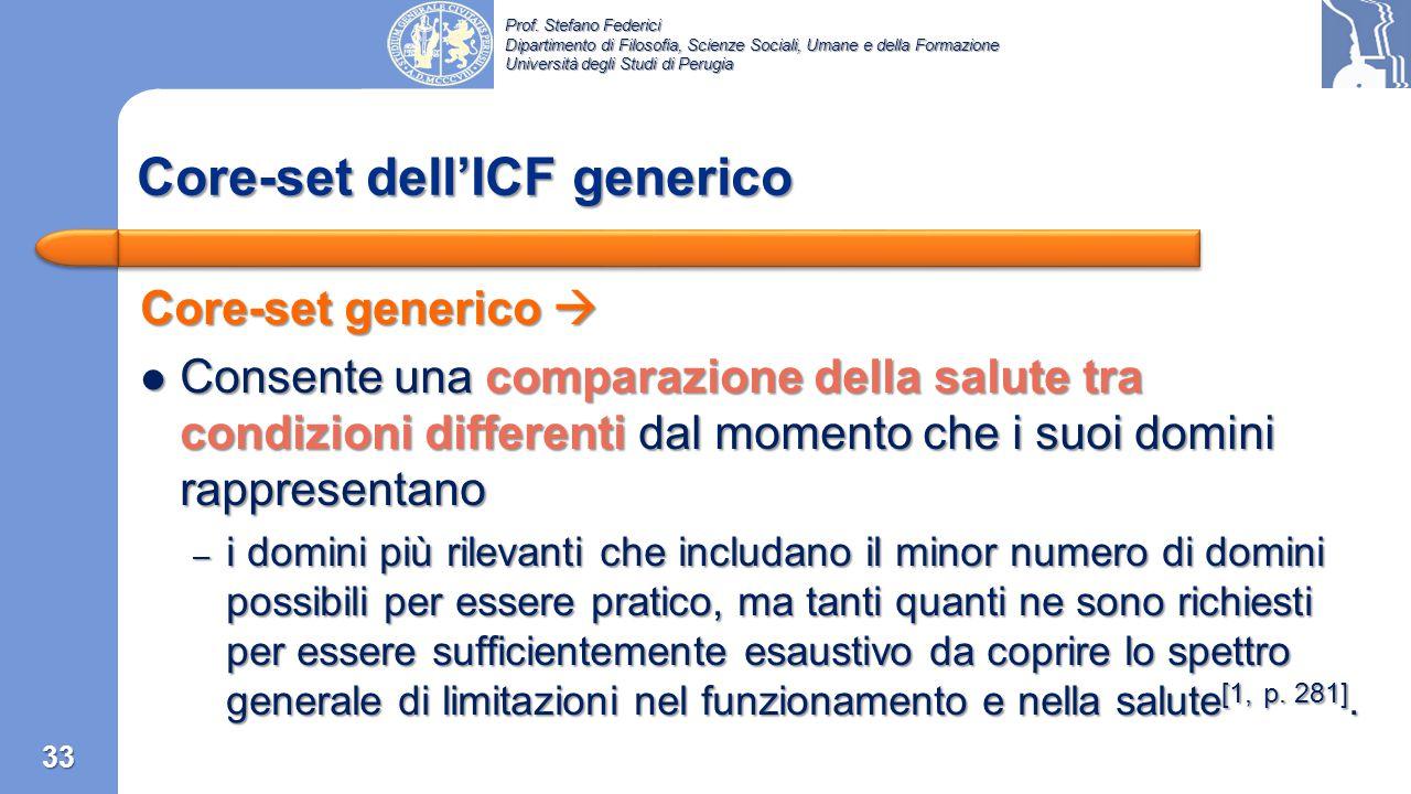 Core-set dell'ICF generico