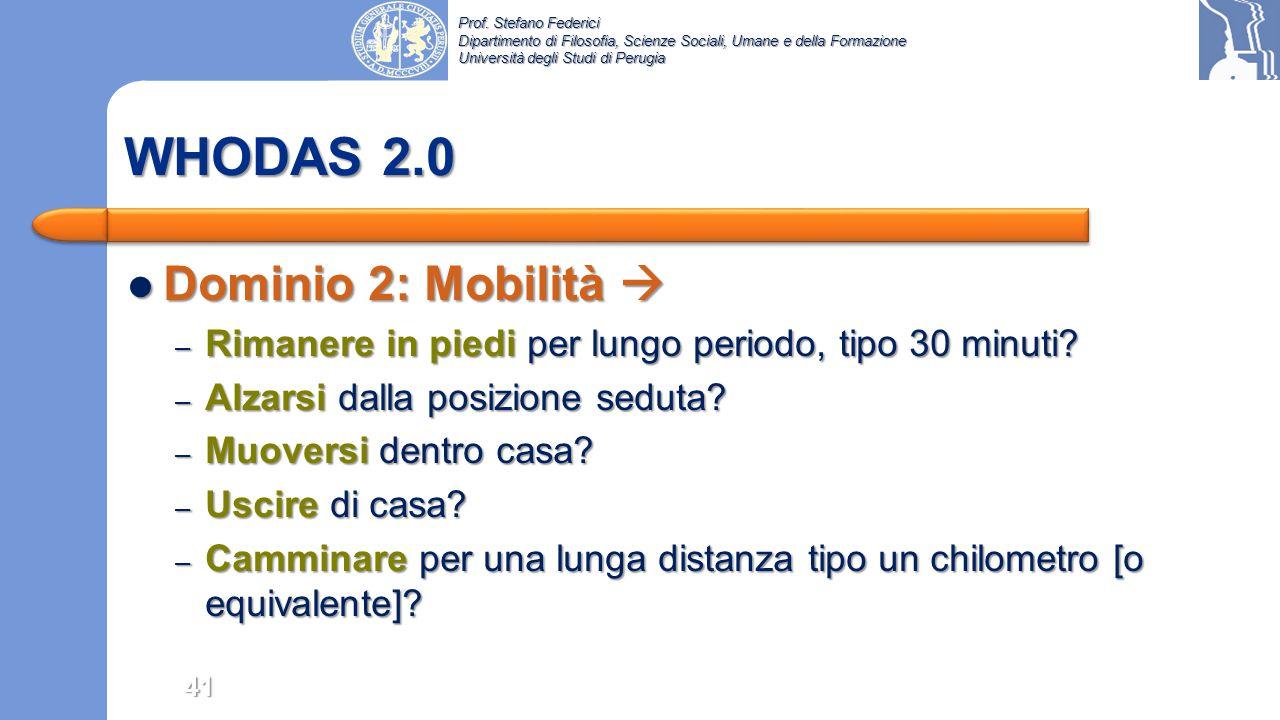 WHODAS 2.0 Dominio 2: Mobilità 