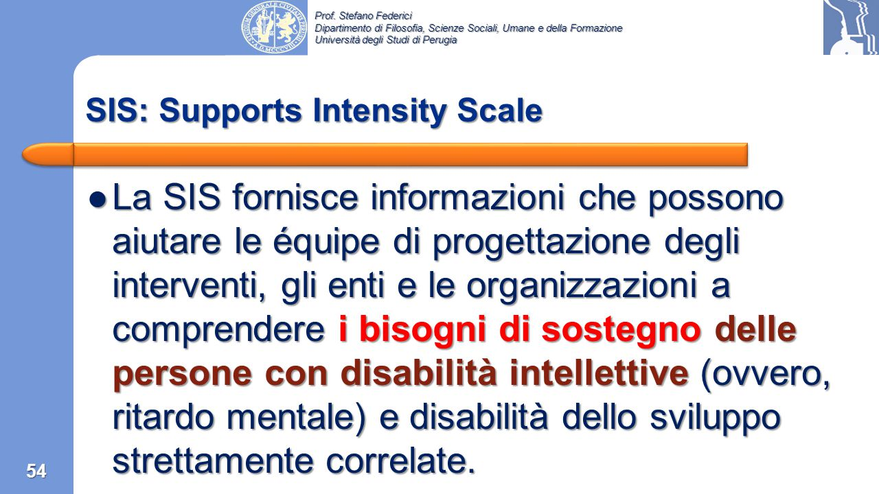 SIS: Supports Intensity Scale