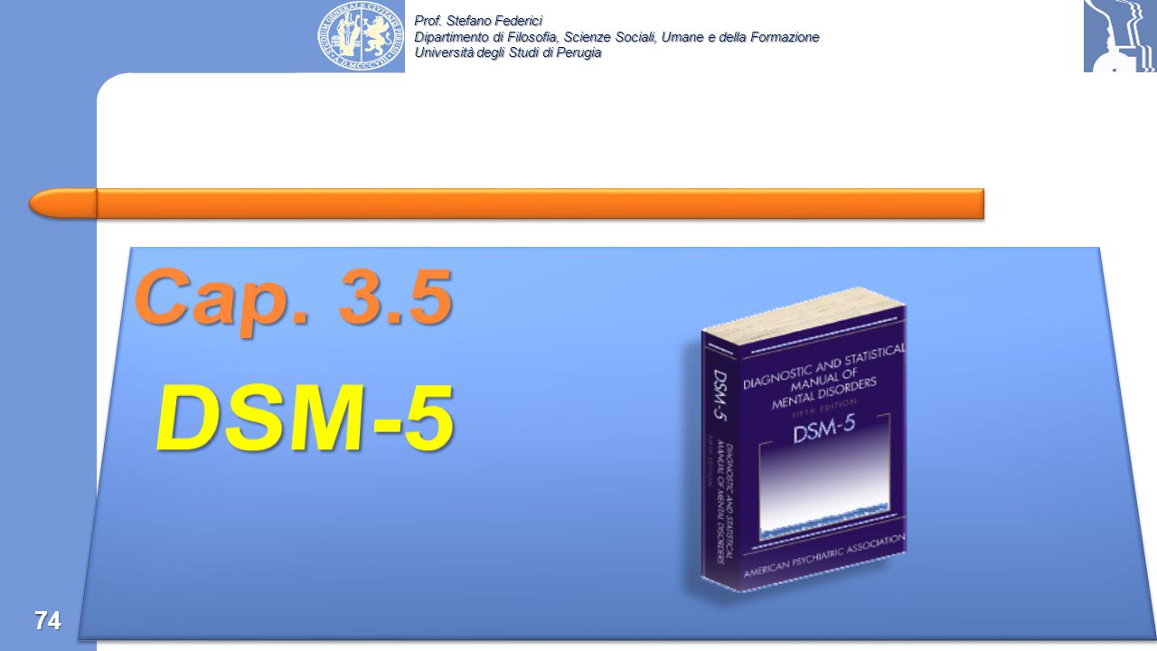 Cap. 3.5 DSM-5