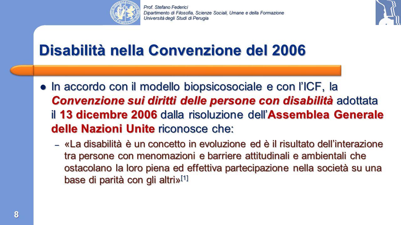 Disabilità nella Convenzione del 2006
