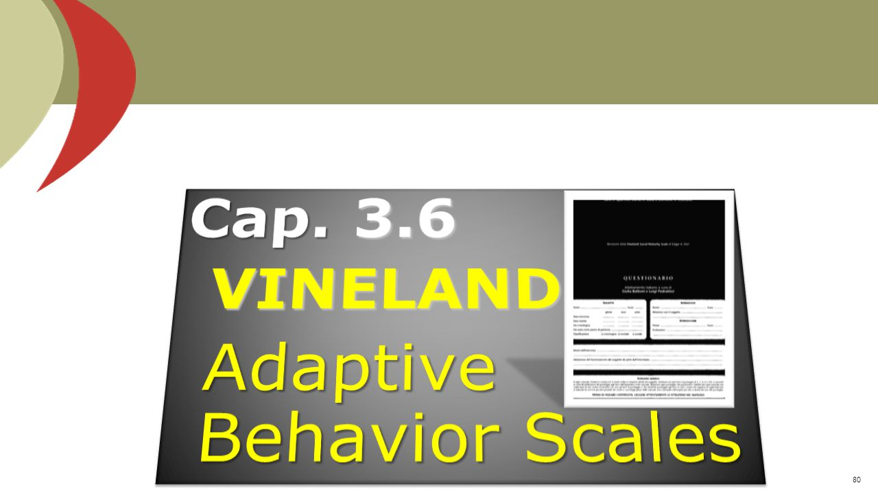 Adaptive Behavior Scales