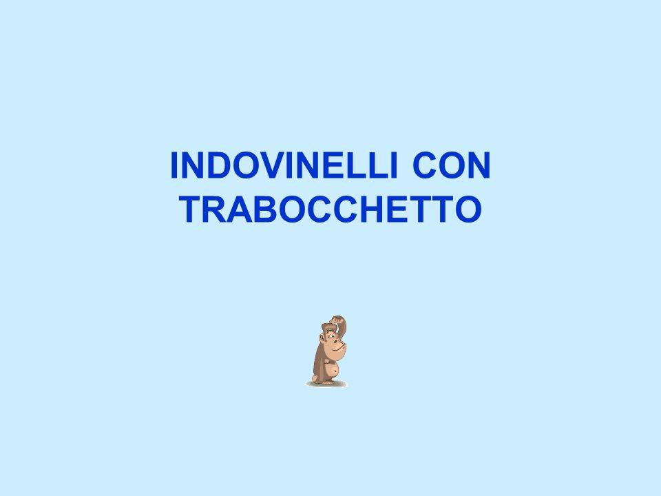 INDOVINELLI CON TRABOCCHETTO
