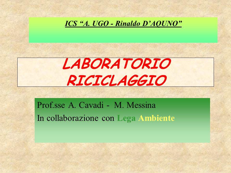 LABORATORIO RICICLAGGIO