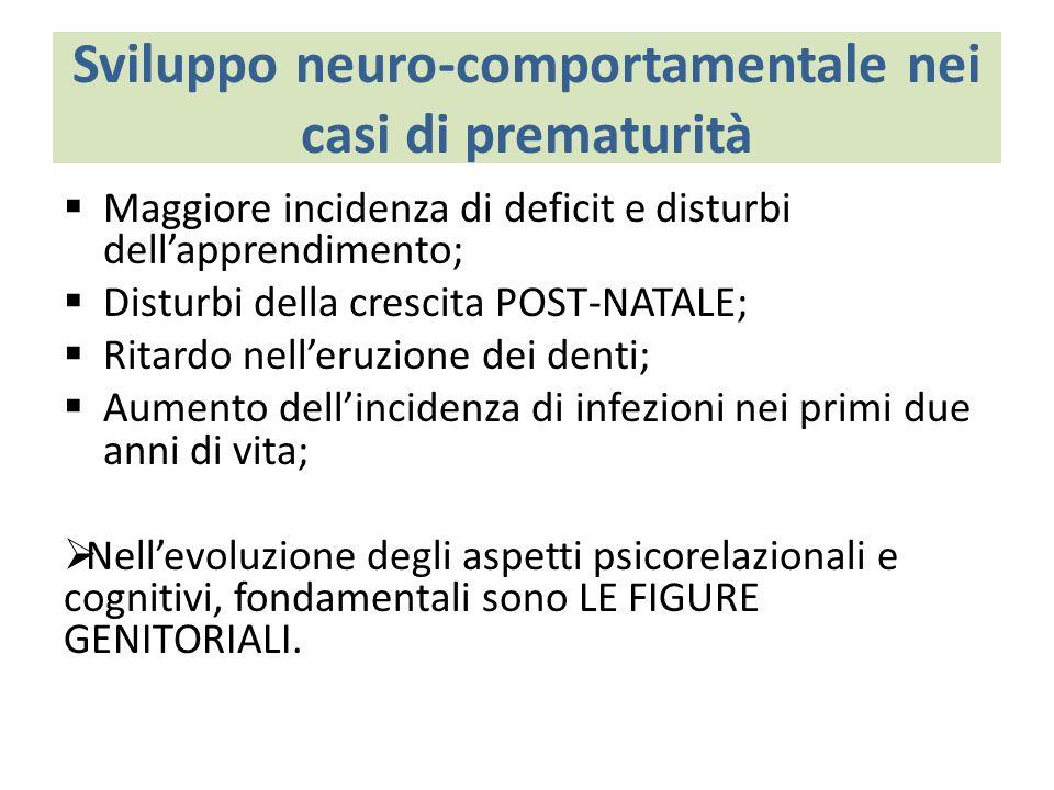Sviluppo neuro-comportamentale nei casi di prematurità