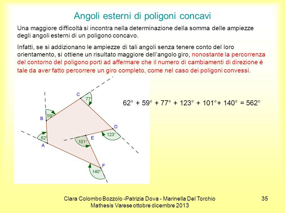 Angoli esterni di poligoni concavi