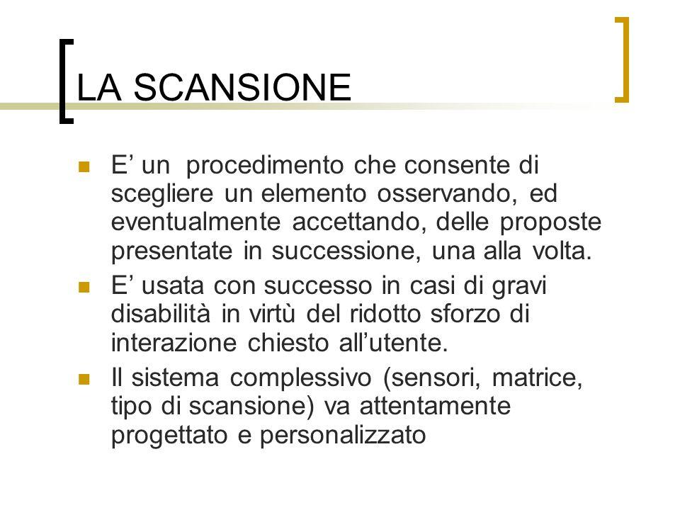 LA SCANSIONE