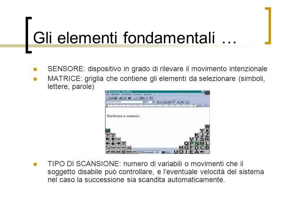 Gli elementi fondamentali …