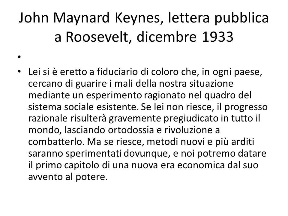 John Maynard Keynes, lettera pubblica a Roosevelt, dicembre 1933