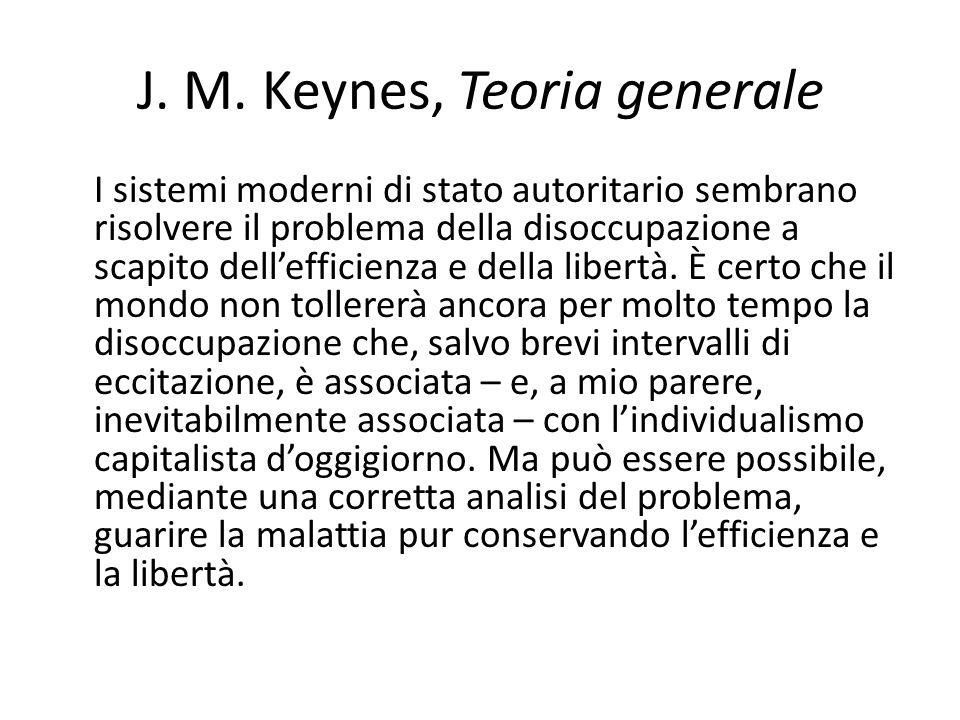 J. M. Keynes, Teoria generale