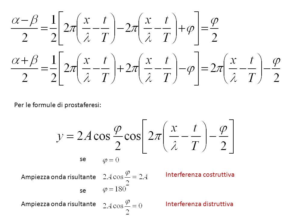Per le formule di prostaferesi: