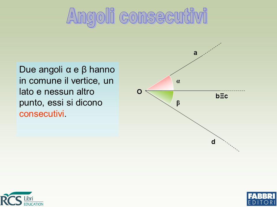 Angoli consecutivi α. β. d. bΞc. a. O.