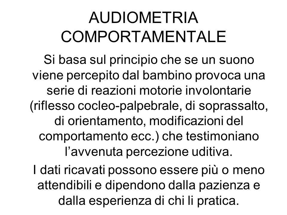 AUDIOMETRIA COMPORTAMENTALE