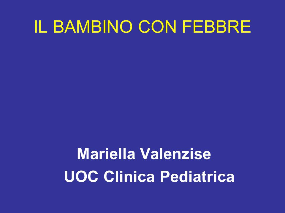 UOC Clinica Pediatrica