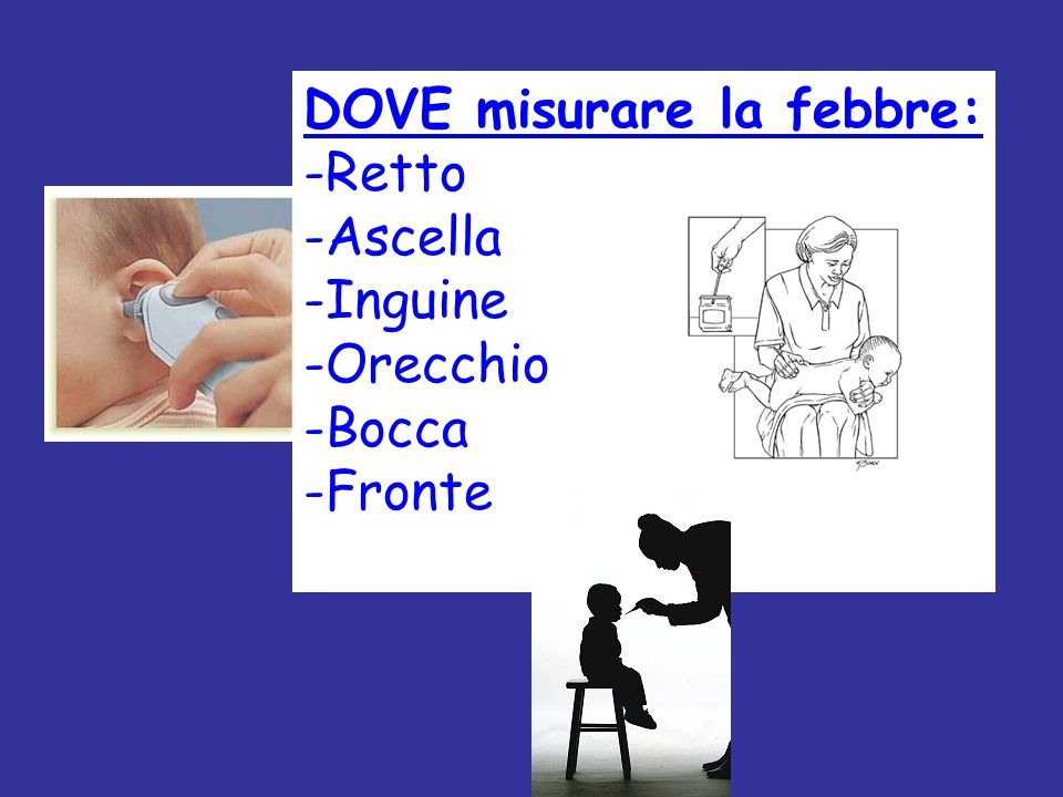 DOVE misurare la febbre: