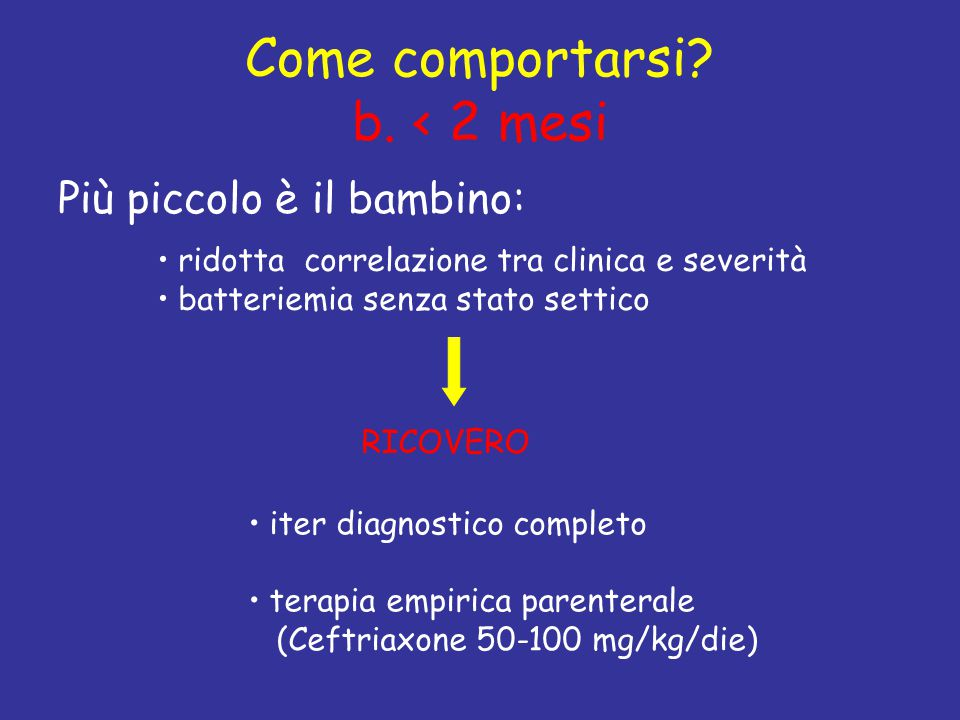 Come comportarsi b. < 2 mesi