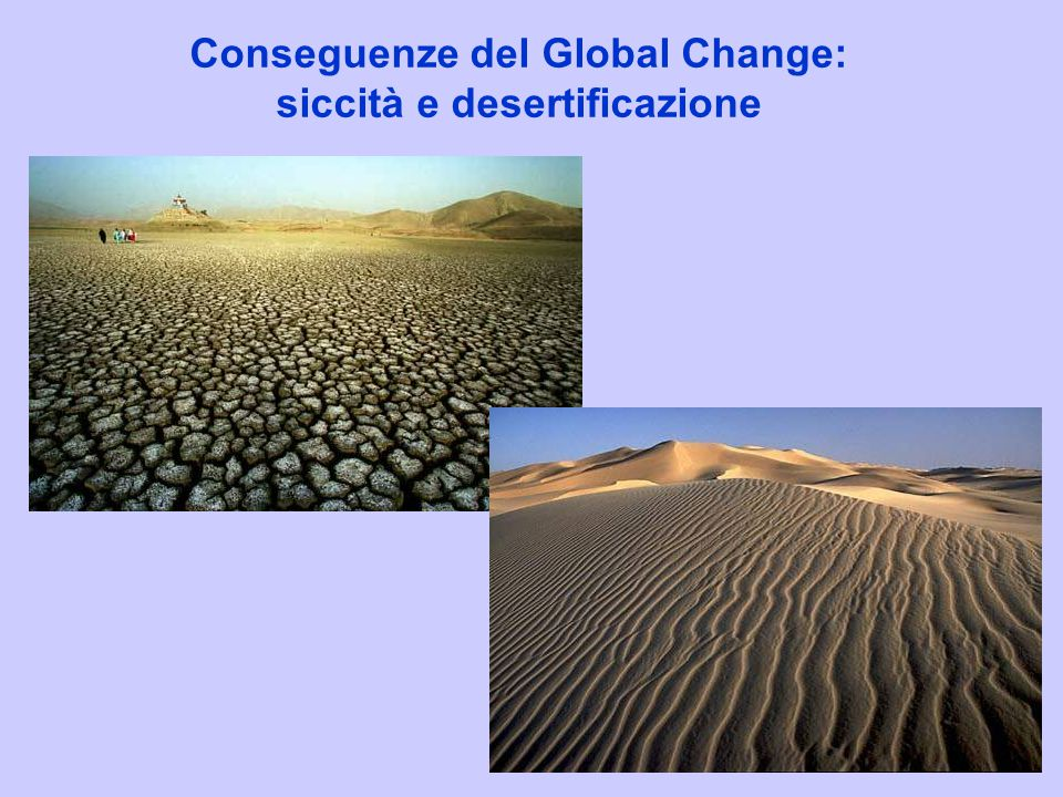 Conseguenze del Global Change: siccità e desertificazione