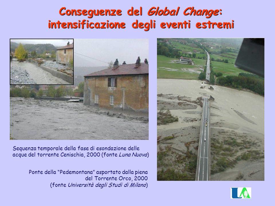 Conseguenze del Global Change: intensificazione degli eventi estremi